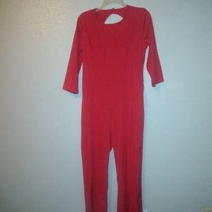 C-MI Backless Red JumpSuit